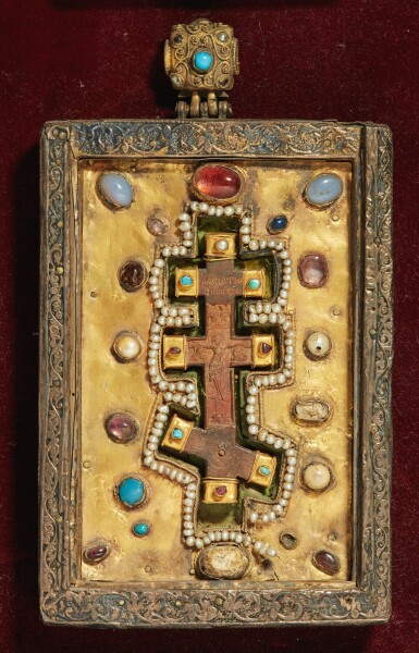 View 3. Thumbnail of Lot 803. Plaques with the Crucifixion and a Cross from Mt. Athos.