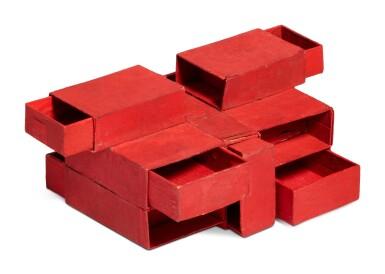 View 2. Thumbnail of Lot 237. Estrutura de caixas de fósforos vermelho (7 caixas).