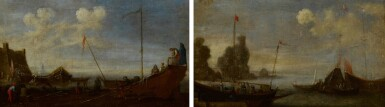 View 2. Thumbnail of Lot 99. A pair of shipping scenes with Maltese ships.
