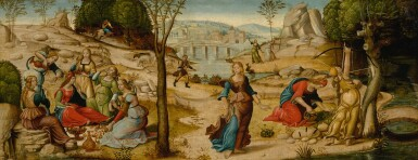 MASTER OF THE CAMPANA CASSONI | EURYDICE AND HER COMPANIONS: A CASSONE PANEL