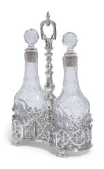 A DUTCH SILVER OIL AND VINEGAR CRUET, MAKER'S MARK GA CONJOINED, PROBABLY GEERTRUYD ALBRINK, AMSTERDAM, 1748