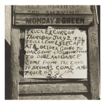 WALKER EVANS | 'EXCURSION SIGN'