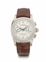 GIRARD-PERREGAUX | A WHITE GOLD AUTOMATIC SPLIT SECONDS CHRONOGRAPH WRISTWATCH WITH REGISTERS CIRCA 2000