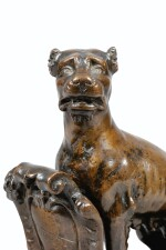ITALY, FLORENCE, HALF 16TH CENTURY  |  SEATED PANTHER HOLDING A SHIELD