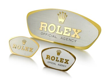 View 1. Thumbnail of Lot 8105. ROLEX | A SET OF THREE WINDOW DISPLAY, CIRCA 1960.