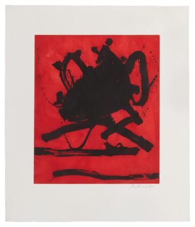 View 1. Thumbnail of Lot 80. ROBERT MOTHERWELL   RED SEA II (WALKER ART CENTER 242).