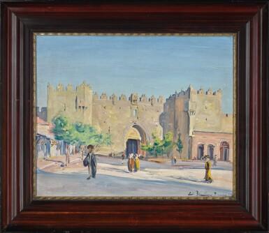View 2. Thumbnail of Lot 3. LUDWIG BLUM | The Damascus Gate, Jerusalem .