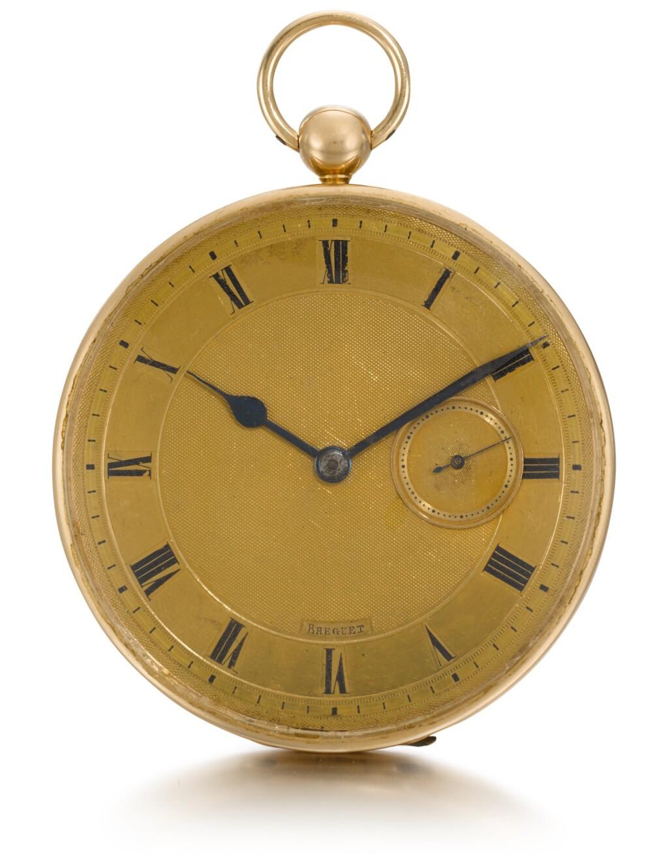 SWISS | A GOLD OPEN-FACED WATCH  CIRCA 1830, NO. 2