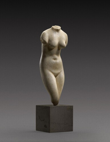 View 2. Thumbnail of Lot 39. A Hellenistic Marble Torso of the Capitoline Aphrodite, circa 2nd/1st Century B.C..