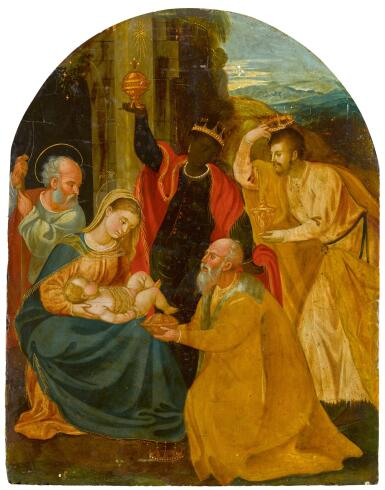 VENETO-CRETAN SCHOOL, LATE 16TH CENTURY | The Adoration of the Magi