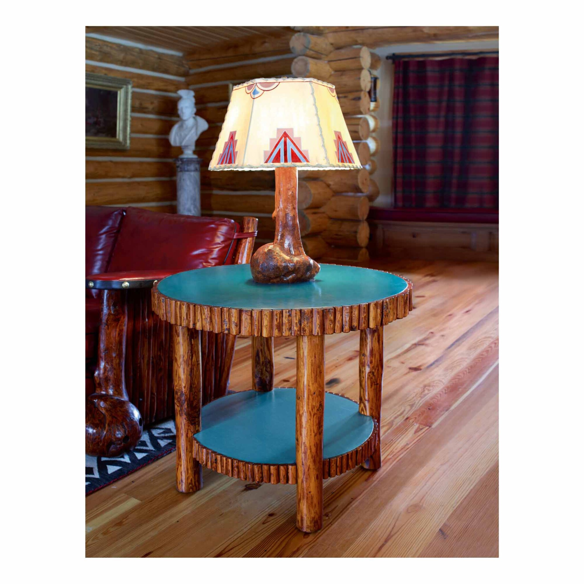 View full screen - View 1 of Lot 208. THOMAS MOLESWORTH | TWO-TIER SIDE TABLE.