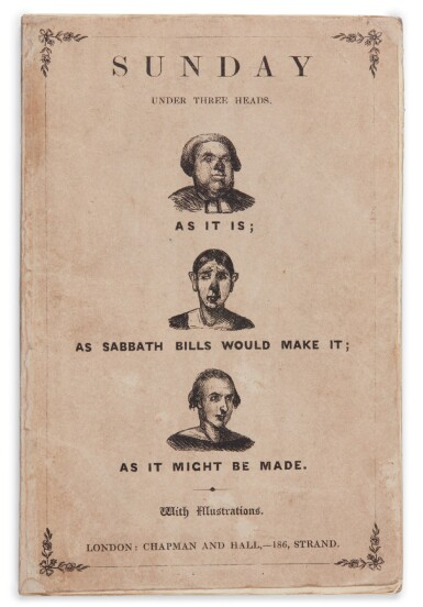 [Dickens], Sunday Under Three Heads, 1836, first edition