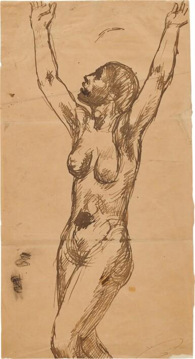 View 1. Thumbnail of Lot 33. Femme nue invoquant le ciel.