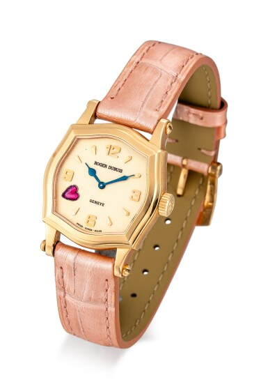 View 2. Thumbnail of Lot 613. ROGER DUBUIS  |  A PINK GOLD AND RUBY-SET WRISTWATCH, CIRCA 2000.