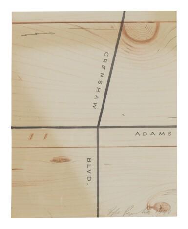 View 1. Thumbnail of Lot 408. ED RUSCHA |  CRENSHAW, ADAMS.