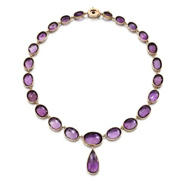 View 3. Thumbnail of Lot 224. AMETHYST NECKLACE.