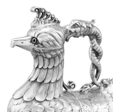 View 3. Thumbnail of Lot 263. An Austrian-Hungarian silver aquamanile, circa 1880 | Aquamanile en argent, Autriche-Hongrie, vers 1880.
