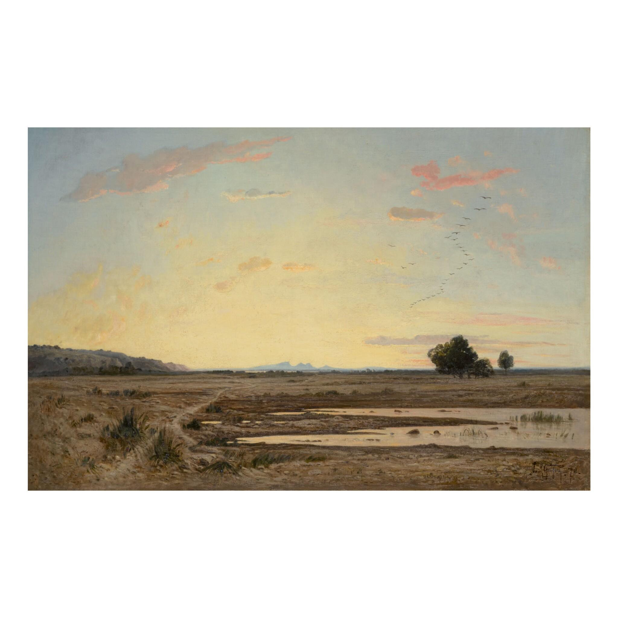 Večerní krajina (1874) Eduard Schleich starší | 19th