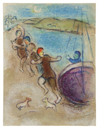 View 1. Thumbnail of Lot 11. MARC CHAGALL | YOUNG METHYMNEANS (M. 324; SEE C. BKS. 46).