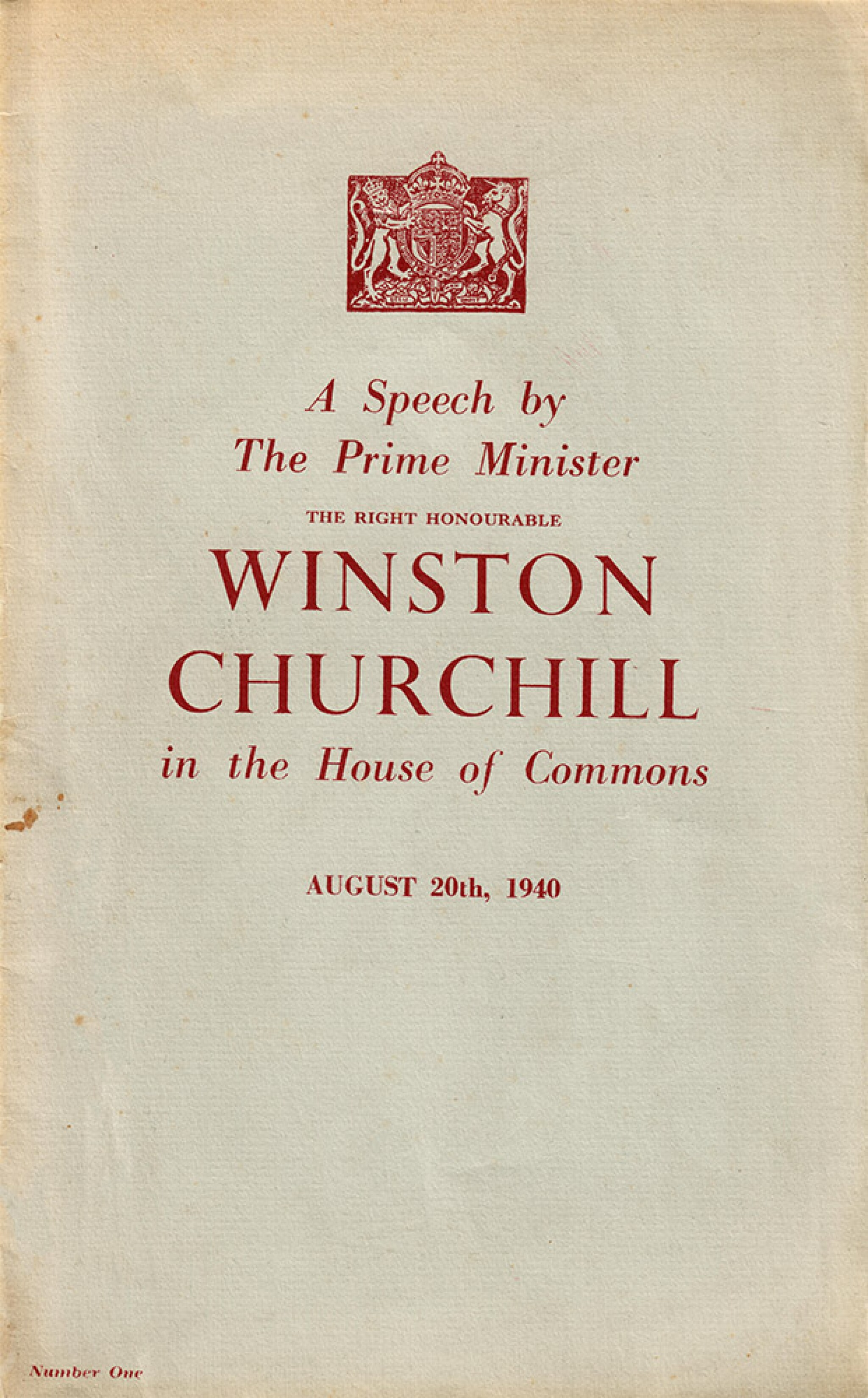 """View full screen - View 1 of Lot 52.  Winston S. Churchill 