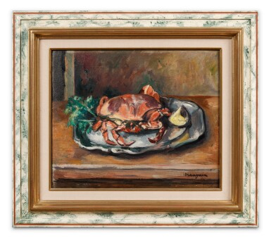 View 3. Thumbnail of Lot 46. Nature morte au crabe.