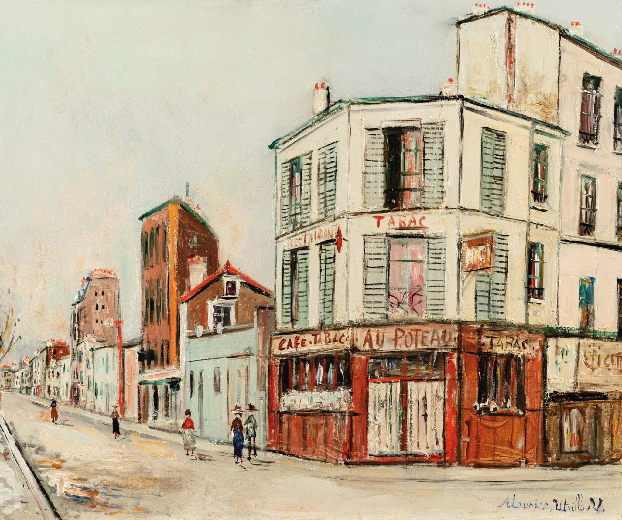 View full screen - View 1 of Lot 45. MAURICE UTRILLO   RUE DU POTEAU À MONTMARTRE     .