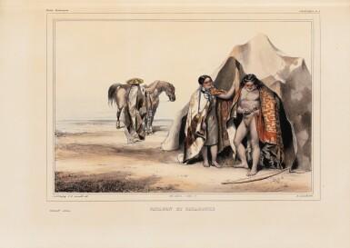 View 2. Thumbnail of Lot 137. ORBIGNY. Voyage dans l'Amérique Méridionale... Paris et Strasbourg, 1834-1847.9 vol in-4. Demi-rel. de l'ép. .