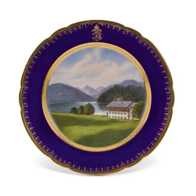 View 2. Thumbnail of Lot 106. An Imperial presentation set of twelve Hutschenreuther porcelain plates, circa 1890.