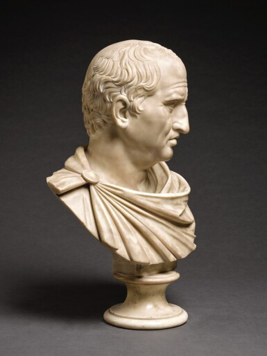 View 2. Thumbnail of Lot 105. ITALIAN, CIRCA 1800, AFTER THE ANTIQUE   BUST OF MARCUS TULLIUS CICERO (106-43 BCE).