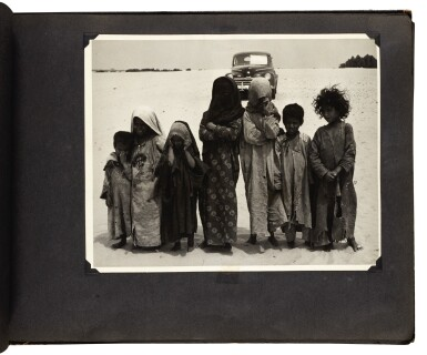 View 4. Thumbnail of Lot 210. Saudi Arabia. Album of photographs of the construction of the Trans-Arabian Pipeline, 1950s.