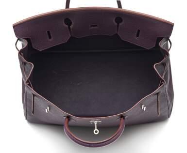View 6. Thumbnail of Lot 367. Raisin Birkin 40cm in Togo Leather with Palladium Hardware, 2008.
