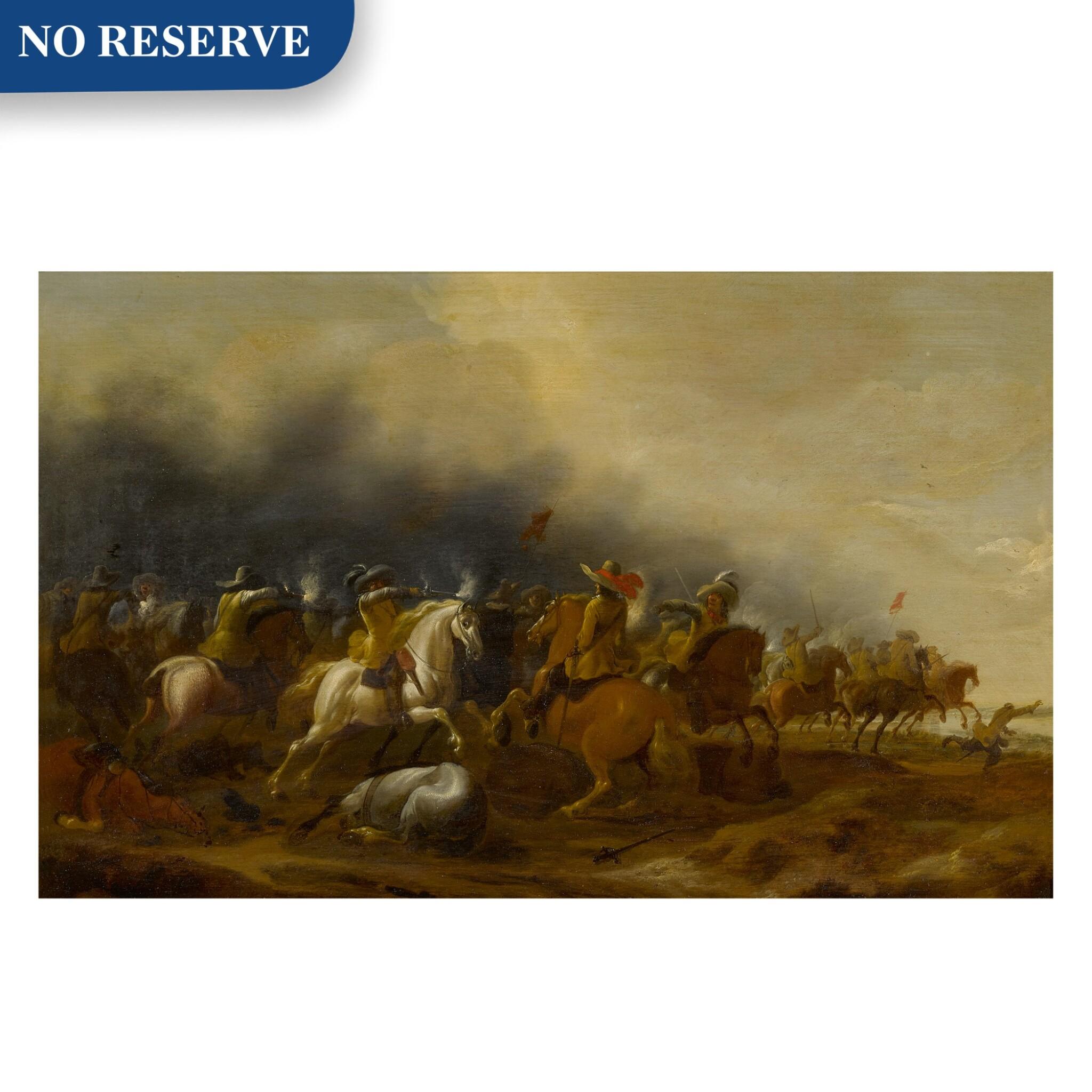View full screen - View 1 of Lot 73. Cavalry skirmish.