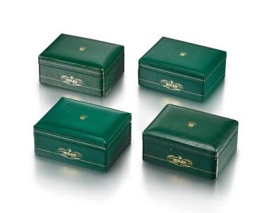 ROLEX | A SET OF FOUR PRESENTATION BOX, CIRCA 1955