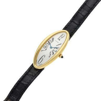 View 6. Thumbnail of Lot 93. Reference 2605 Baignoire Allongee  A large yellow gold oval wristwatch, Circa 2005.