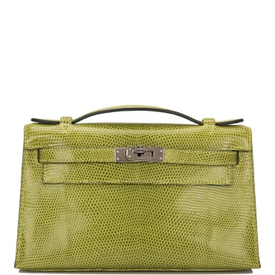 Hermès Vert Anis Lizard Mini Kelly Pochette