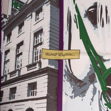 "View 2. Thumbnail of Lot 149. Hermès ""Quand Soudain"" Silk Twill Scarf 70cm."