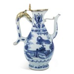 A CHINESE BLUE AND WHITE PORCELAIN EWER WITH SILVER-GILT MOUNTS, MID 17TH CENTURY, THE MOUNTS PROBABLY ENGLISH OR FLEMISH