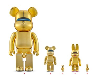 空山基 Hajime Sorayama   性感機器人(金)BE@RBRICK 1000%;性感機器人(金)BE@RBRICK 100% & 400%; 性感機器人(金)BE@BBRICK 100% & 400%(三件) Sexy Robot Gold BE@RBRICK 1000%; Sexy Robot Gold BE@RBRICK 100% & 400%;  SEXY ROBOT GOLD BE@BBRICK 100% & 400%(three works)