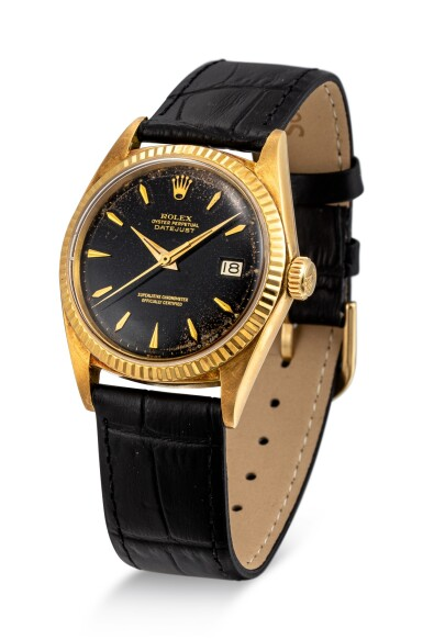 View 2. Thumbnail of Lot 111. ROLEX | DATEJUST, REFERENCE 1601 A YELLOW GOLD WRISTWATCH WITH DATE, CIRCA 1964.