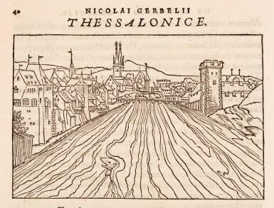View 1. Thumbnail of Lot 181. Gerbelius   In descriptionem Graeciae Sophiani, praefatio, (Basel: Oporinus, 1545).