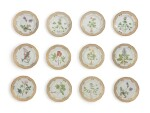 TWELVE ROYAL COPENHAGEN 'FLORA DANICA' RETICULATED DINNER PLATES, MODERN