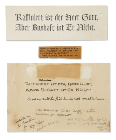 """View 2. Thumbnail of Lot 18. EINSTEIN, ALBERT 