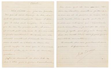 View 4. Thumbnail of Lot 120.  Importante correspondance à Violette Leduc dévoilant leur amitié littéraire. 297 lettres.
