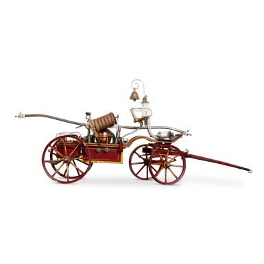 EXCEPTIONAL TOY HORSE DRAWN FIRE PUMPER, MARKLIN, GERMANY, CIRCA 1902