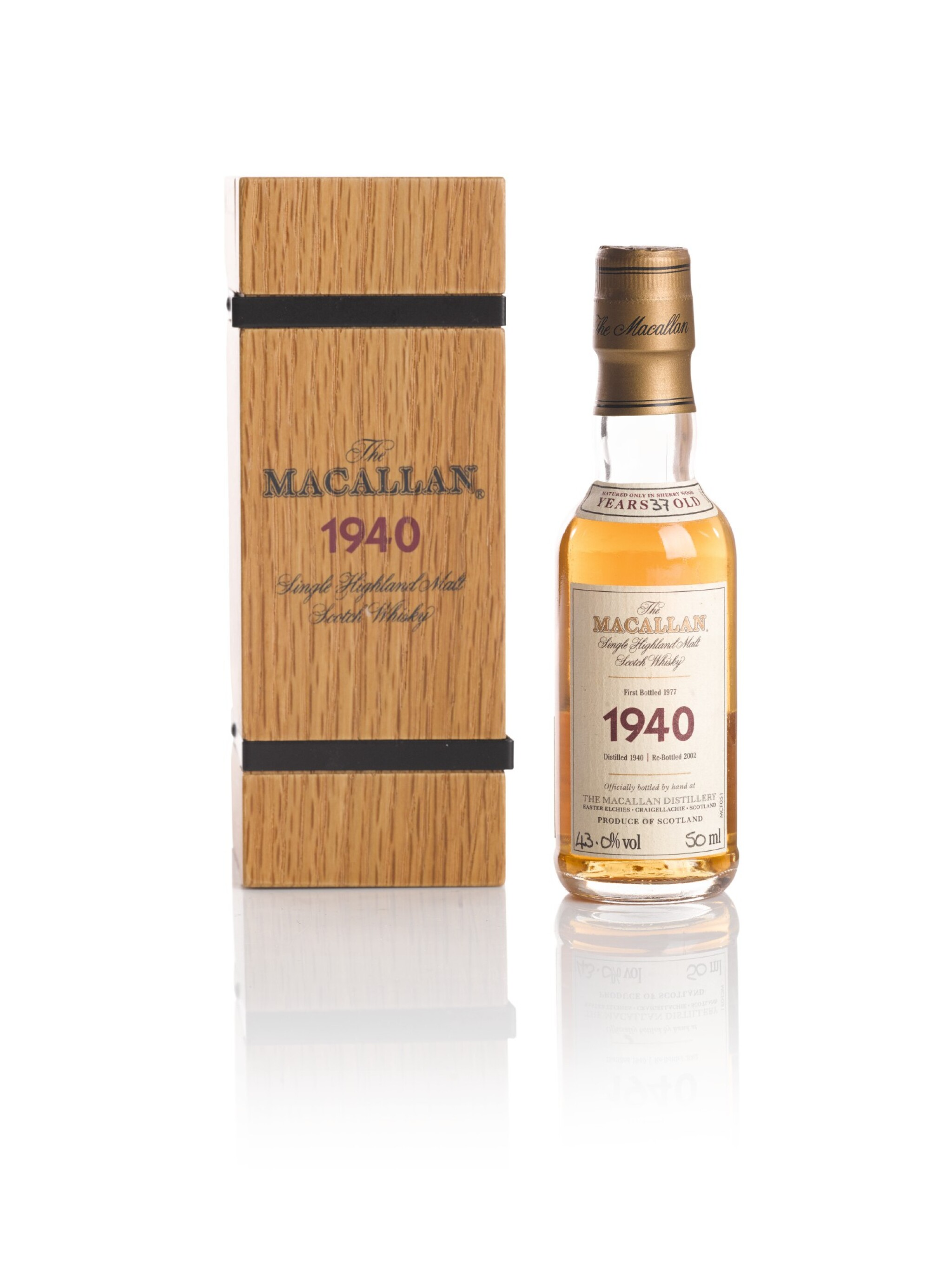 View full screen - View 1 of Lot 147. THE MACALLAN FINE & RARE 37 YEAR OLD 43.0 ABV 1940.