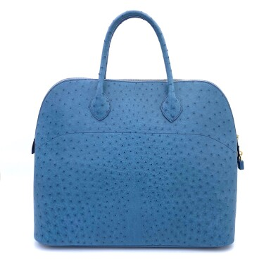 View 3. Thumbnail of Lot 343. Teal Bolide 45cm in Ostrich Leather with Gold Hardware, 1997.