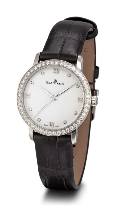 View 2. Thumbnail of Lot 105. BLANCPAIN   VILLERET, REFERENCE 6104 4628 55A A STAINLESS STEEL AND DIAMOND-SET WRISTWATCH, CIRCA 2018.