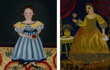 View 1. Thumbnail of Lot 1476. JANA VINOPAL   YOUNG AMERICAN GIRL HOLDING FRUIT WITH A CAT.