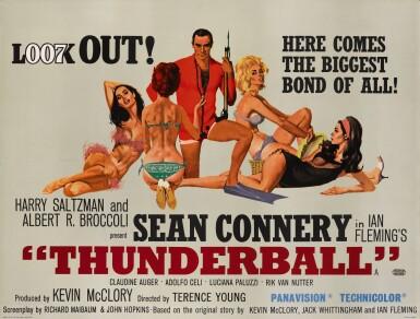 View 1. Thumbnail of Lot 51. THUNDERBALL (1965) POSTER, BRITISH  .