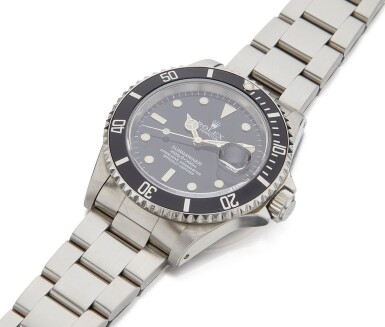 View 2. Thumbnail of Lot 15. ROLEX | SUBMARINER REF 16610, A STAINLESS STEEL AUTOMATIC CENTER SECONDS WRISTWATCH WITH BRACELET CIRCA 1994.